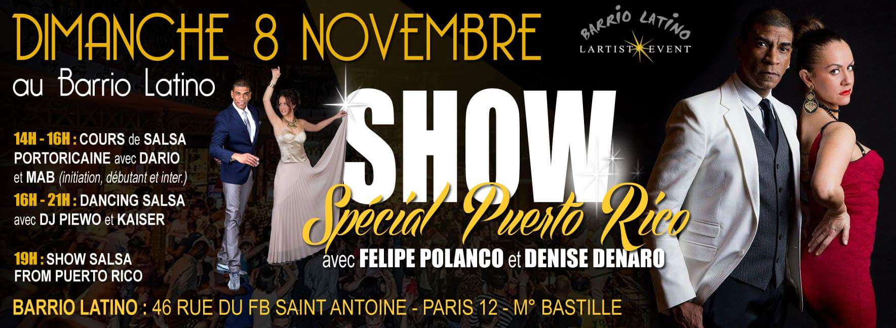 Felipe Polanco Show spécial salsa portoricaine au Barrio Latino
