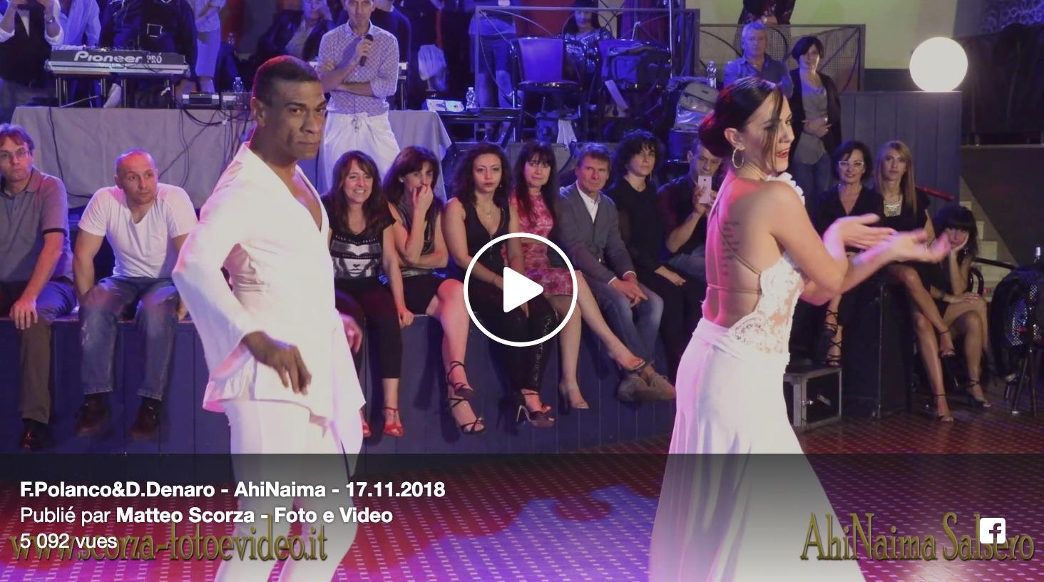 Felipe Polanco et Denise Denaro – AhiNaima en Italie – Spectacle du 17.11.2018