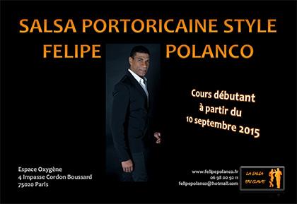 Felipe Polanco Cours de salsa portoricaine Espace Oxygène