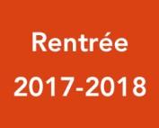 Rentrée 2017-2018
